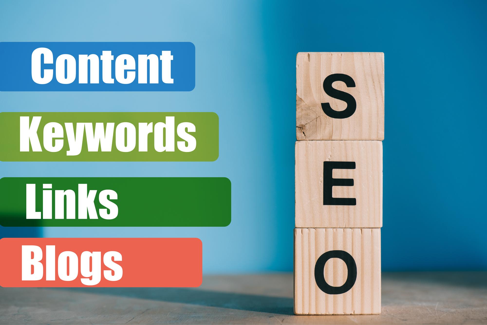 SEO blocks content keywords links